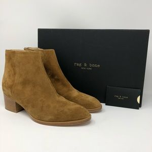 RAG AND BONE WESLEY BOOTIES - HAZEL SUEDE SZ39